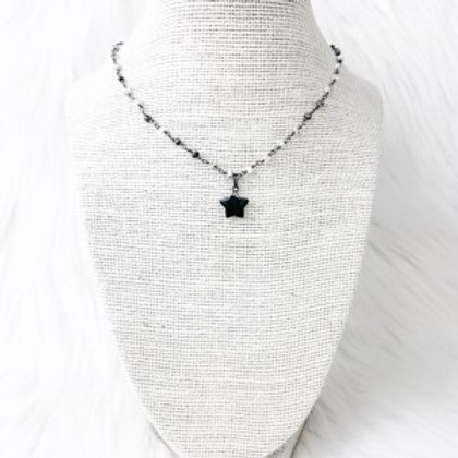 Mixed Gray Star Necklace
