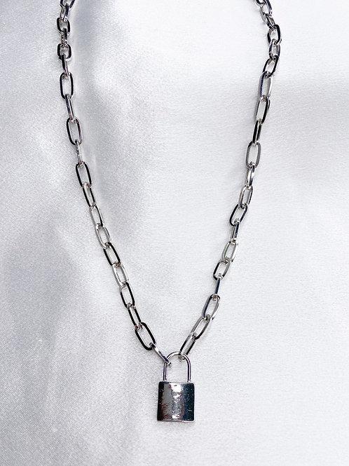 Silver Lock Necklace