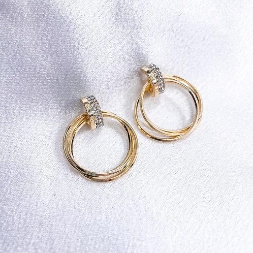 3 Ring Diamond Hoops