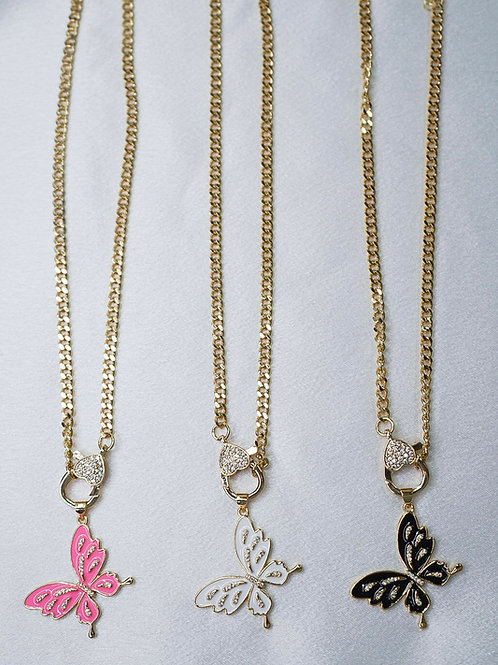 Neon Flutter Necklaces With Clasp