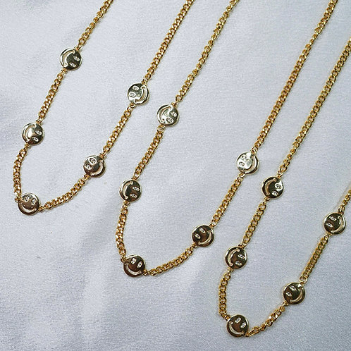 Smiley Chain Necklace