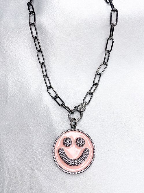 Gunmetal Smile Necklace With Clasp