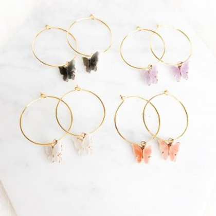 Butterfly Babe Hoops