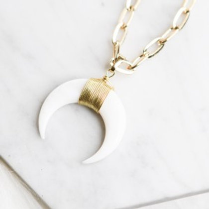 Golden Small Horn Necklace
