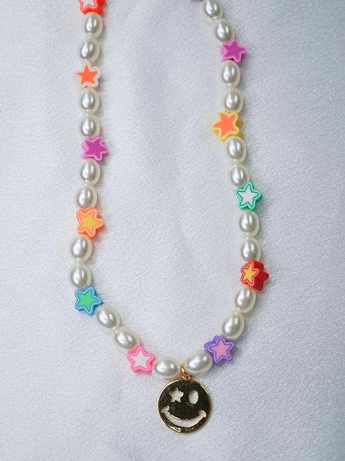 Starburst Smiley Necklace
