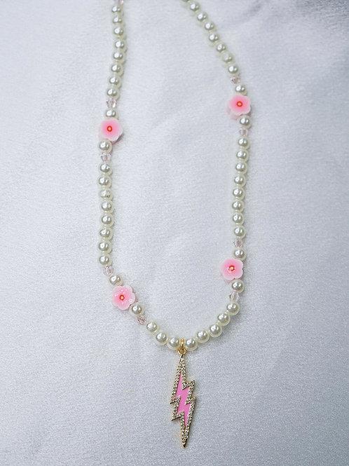 Blossom Lightning Bolt Necklace