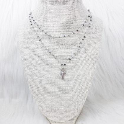 Mixed White Cross Double