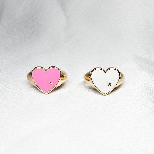 Groovy Heart Rings