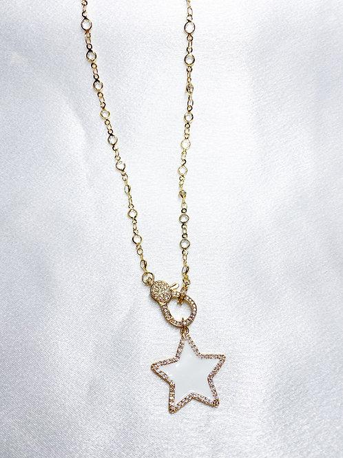 Diamond Star Clasp Necklace