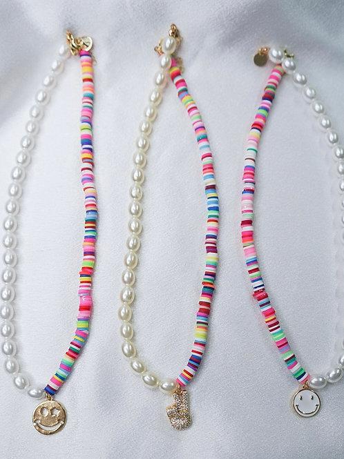 Rainbow Pearl Necklaces