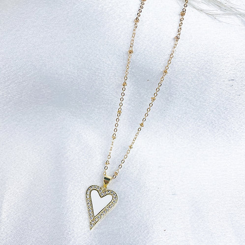 Gold Heart Breaker Necklace