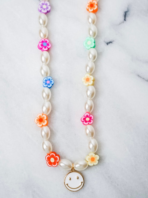 Beach Candy White Smile Necklace