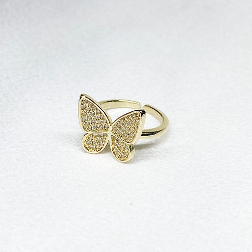 Gold Filled Butterfly Ring