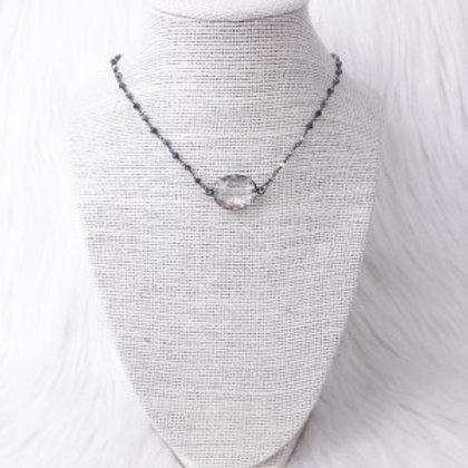 Mixed Gray Oval Crystal Single