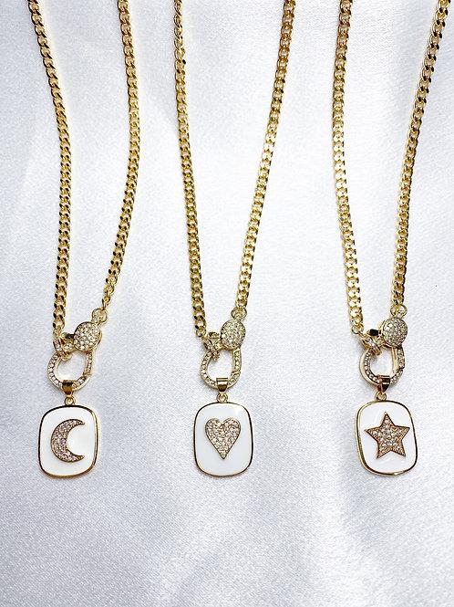 Cuban Clasp Platinum Necklaces