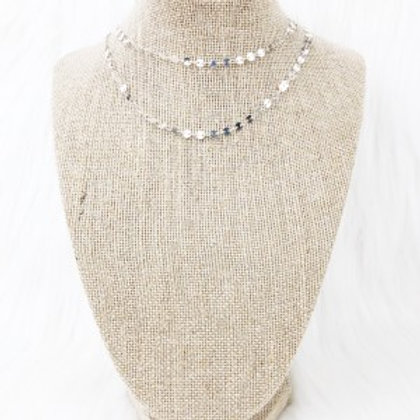 Small Silver Sequin Double