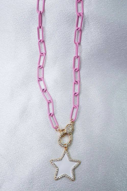 Baby Pink Star Clasp Necklace