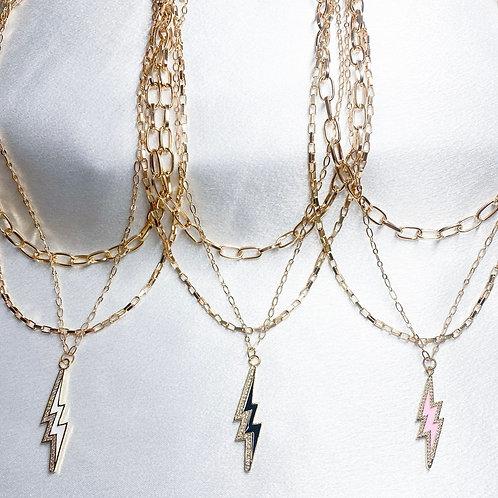 Lightning Bolt Layer Necklaces