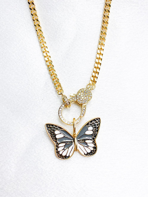 Gold Butterfly Clasp Necklace