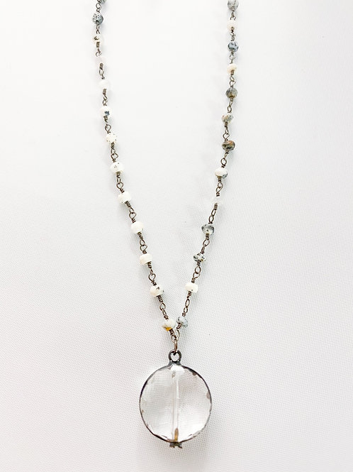 Mixed Gray Crystal Necklace