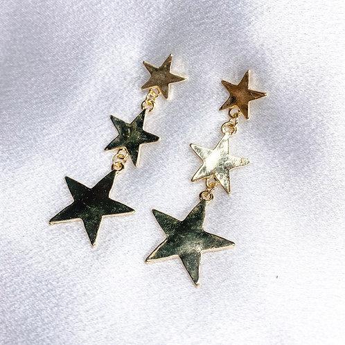 Star Drop Down Earrings