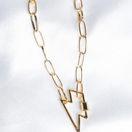 Gold Lighting Bolt Necklace