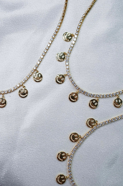 Diamond Smiley Necklaces
