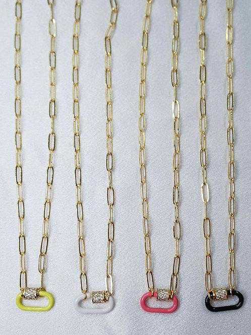 Neon Carabiner Necklaces