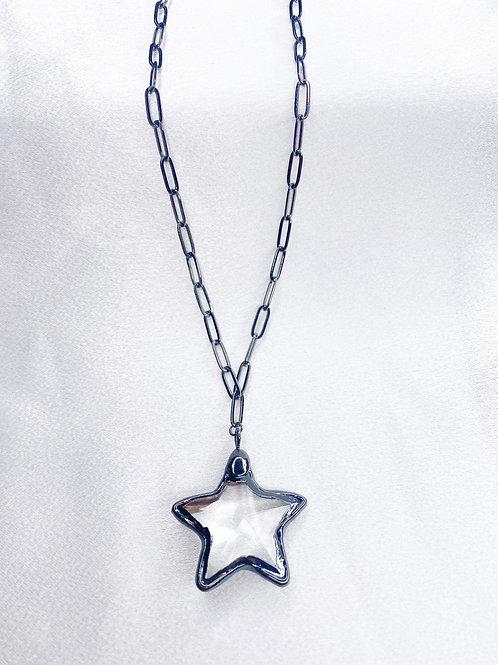 Crystal Gunmetal Star Single