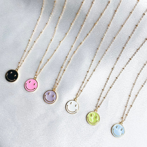 Smiles All Around Necklace (Dainty Ball Chain)