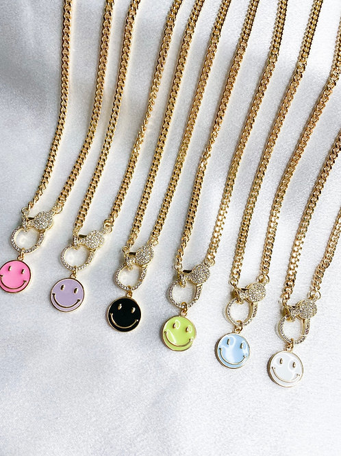 Smiles All Around Necklace (Cuban Chain)