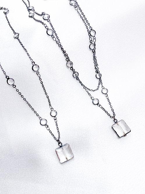 Square Diamond Necklaces