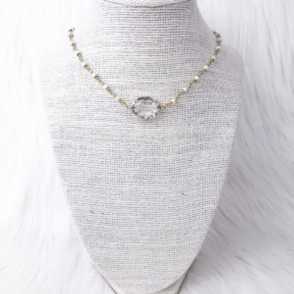 Howlite Oval Crystal Single