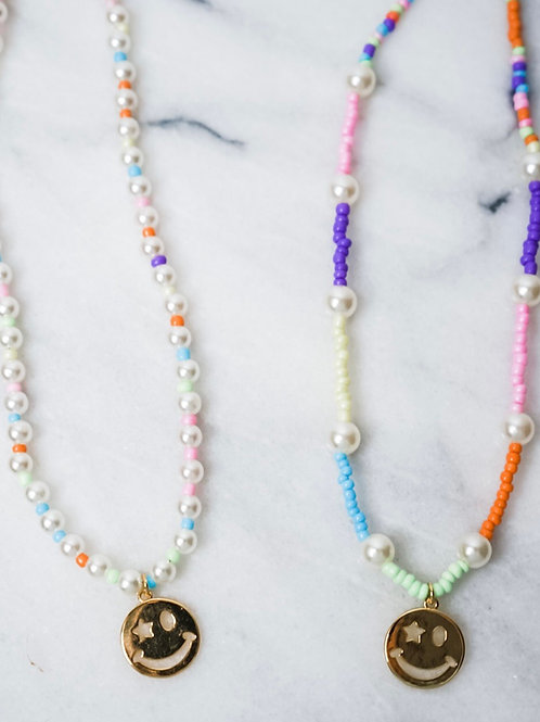 Beach Side Gold Smile Necklaces