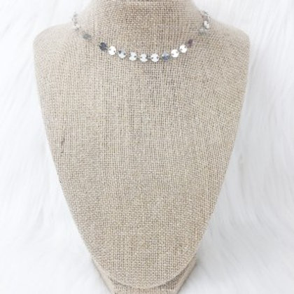 Silver Sequin Necklace