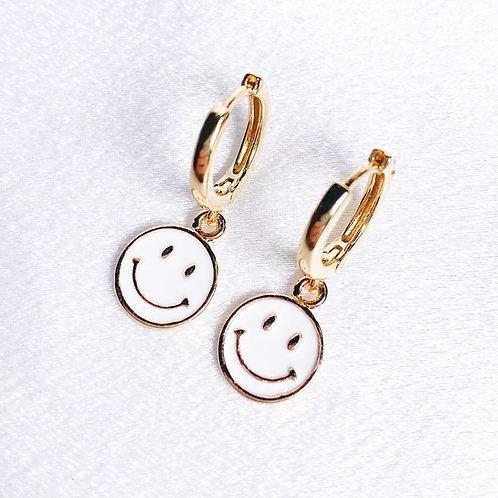 Smiley Huggie Hoops