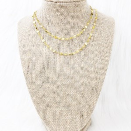 Gold Small Sequin Necklace