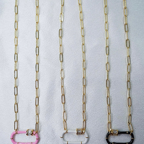Neon Diamond Carabiner Necklaces