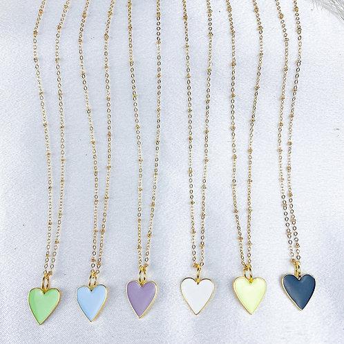 Neon Heart Necklaces