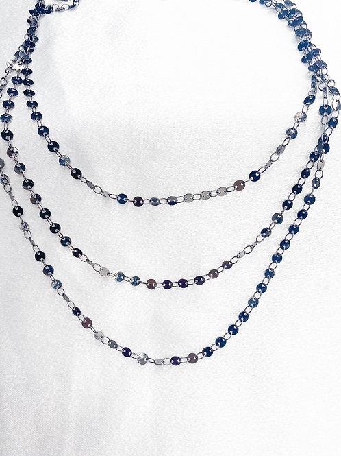 Triple Sequin Necklace