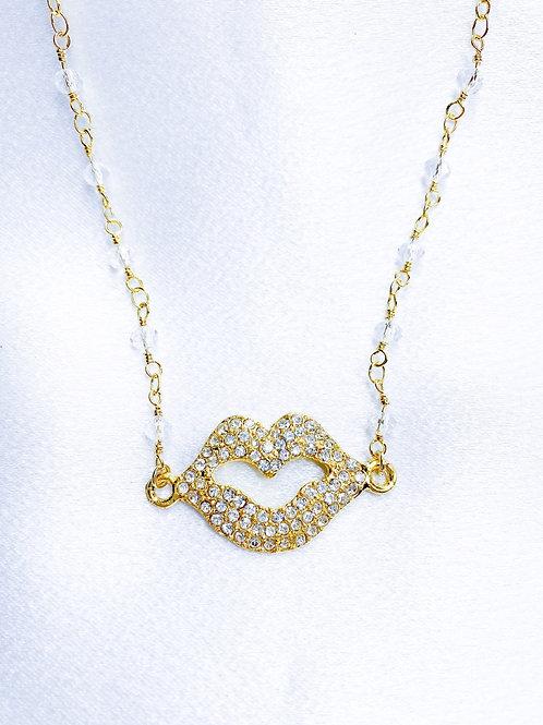 Diamond Smooch Necklace