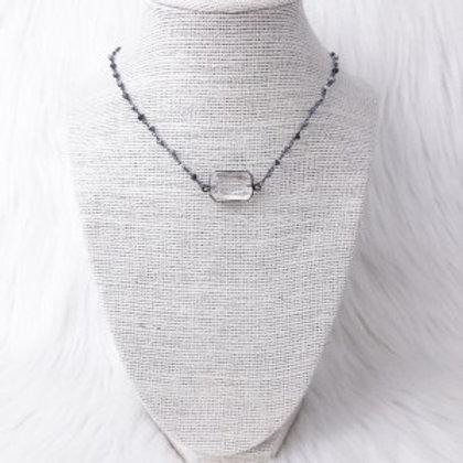 Mixed Gray Rectangle Crystal Single