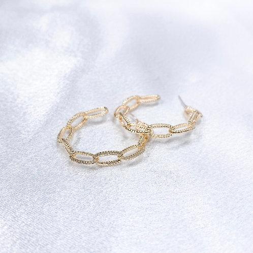 Gold Link Hoops