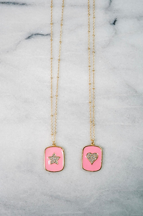 Pink Platinum Necklaces