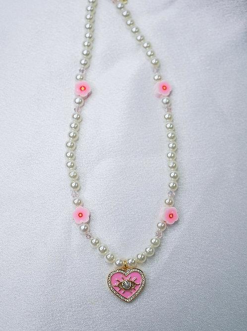 Blossom Heart Eye Necklace
