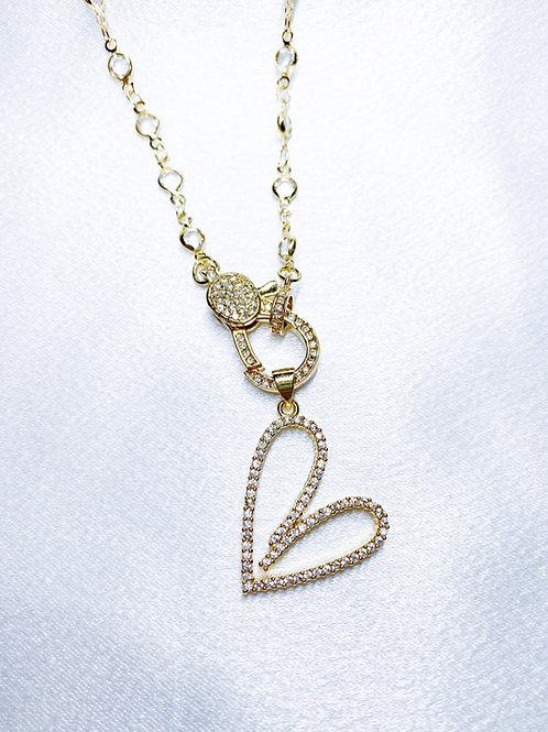 Diamond Heart Clasp Necklace