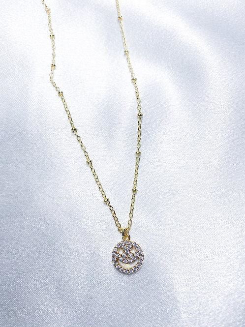 Rhinestone Smile Necklace