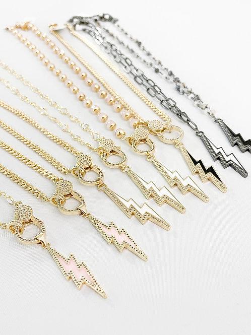 Diamond Lighting Bolt Necklaces