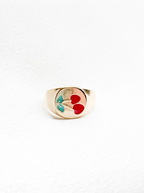 Gold Cherry Ring