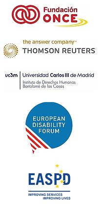 project partner logos: Fundacion ONCE, Thomson Reuters Aranzadi, Universidad Carlos III de Madrid - Instituto de Derechos Humanos Bartolome de las Casas, European Disability Forum, EASPD